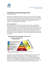 Competenties systeemtherapeut (ST)