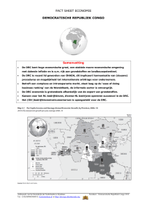 FACT SHEET ECONOMIE DEMOCRATISCHE REPUBLIEK CONGO