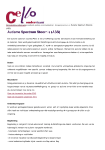 Cello zorg - Autisme Spectrum Stoornis (ASS)