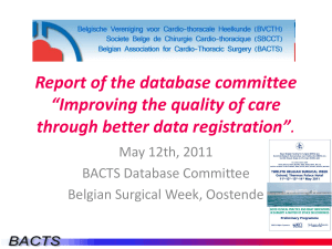 "Report of the database committee ""Improving the quality of care"