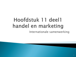 Hoofdstuk 11 handel en marketing