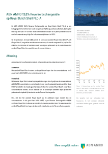 ABN AMRO 13,0% Reverse Exchangeable op Royal Dutch Shell