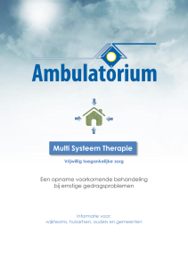 Multi Systeem Therapie - Ottho Gerhard Heldringstichting