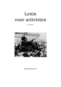 Lenin voor activisten - Internationale Socialisten