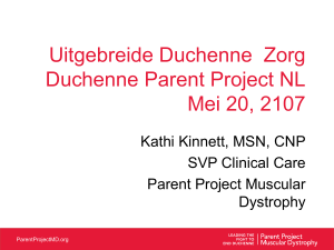 Comprehensive Duchenne Care Dutch Parent Project May 20, 2107