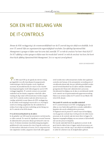 sox en het belang van de it-controls