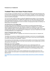 Troldtekt ® Wave wint Green Product Award