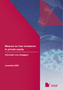 Waarom en hoe investeren in private equity