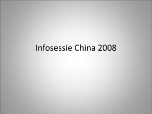 Infosessie China 2008