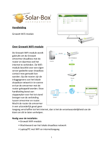 Handleiding Over Growatt WiFi-module - KTI-WTI