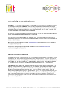 Gezocht: marketing- communicatiemedewerker