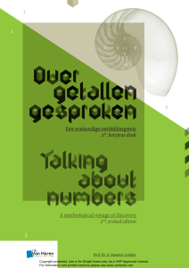 Over getallen gesproken / Talking about numbers