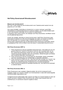 Het Policy Governance Bron-document