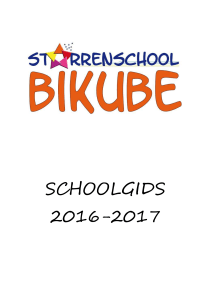 1 De school - Sterrenschool Bikube