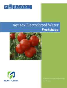 Aquaox Electrolyzed Water