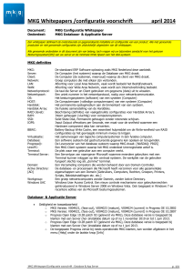 MKG Whitepapers /configuratie voorschrift april 2014