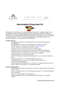 Serviceplan Financieel Fit