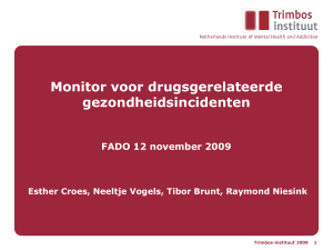 Monitor voor drugsgerelateerde - Trimbos