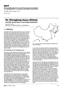 De Chengjiang-fauna (China)