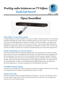 Opus Soundbar - Black Velvet Audio