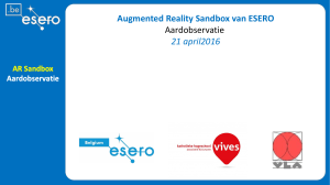 Augmented Reality Sandbox van ESERO