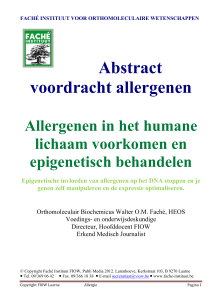 Abstract voordracht allergenen