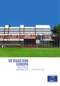 de raad van europa - Council of Europe Publishing