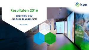 KPN - Presentation Q3 2016, 27 October 2016