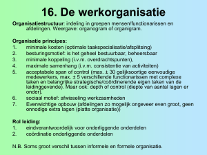 Organisatie marketing