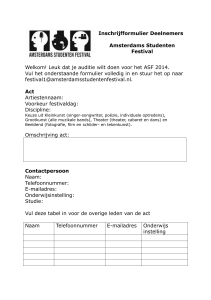 Act - Amsterdams Studenten Festival