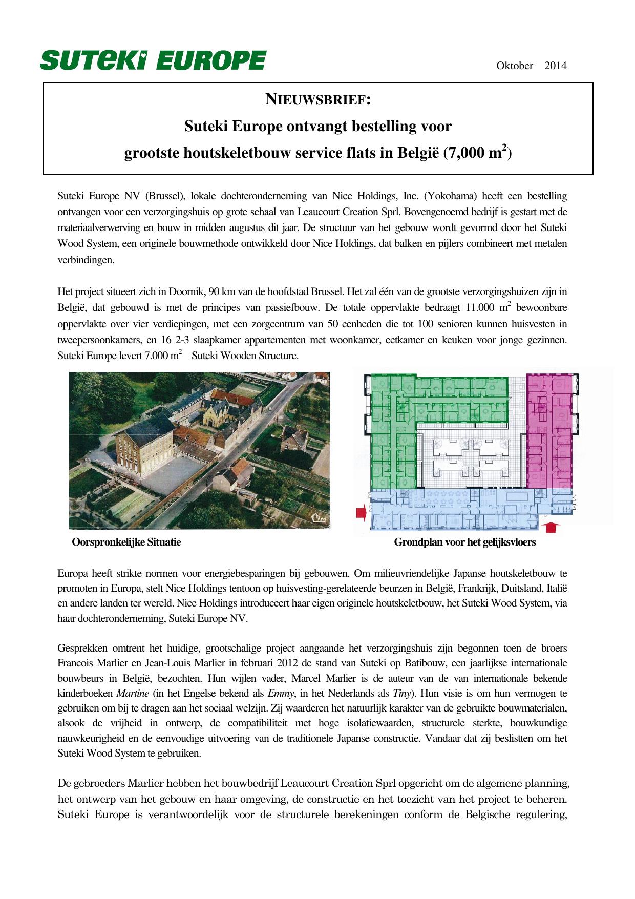 Suteki Europe Ontvangt Bestelling Voor Grootste Houtskeletbouw