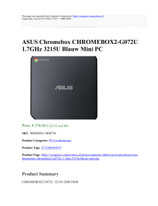 ASUS Chromebox CHROMEBOX2-G072U 1.7GHz 3215U Blauw