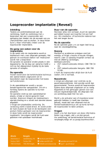 Looprecorder implantatie