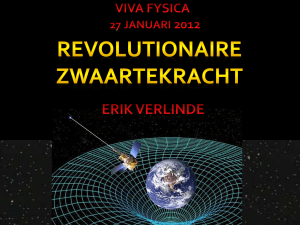 Is gravity an entropic force? Erik Verlinde University of Amsterdam