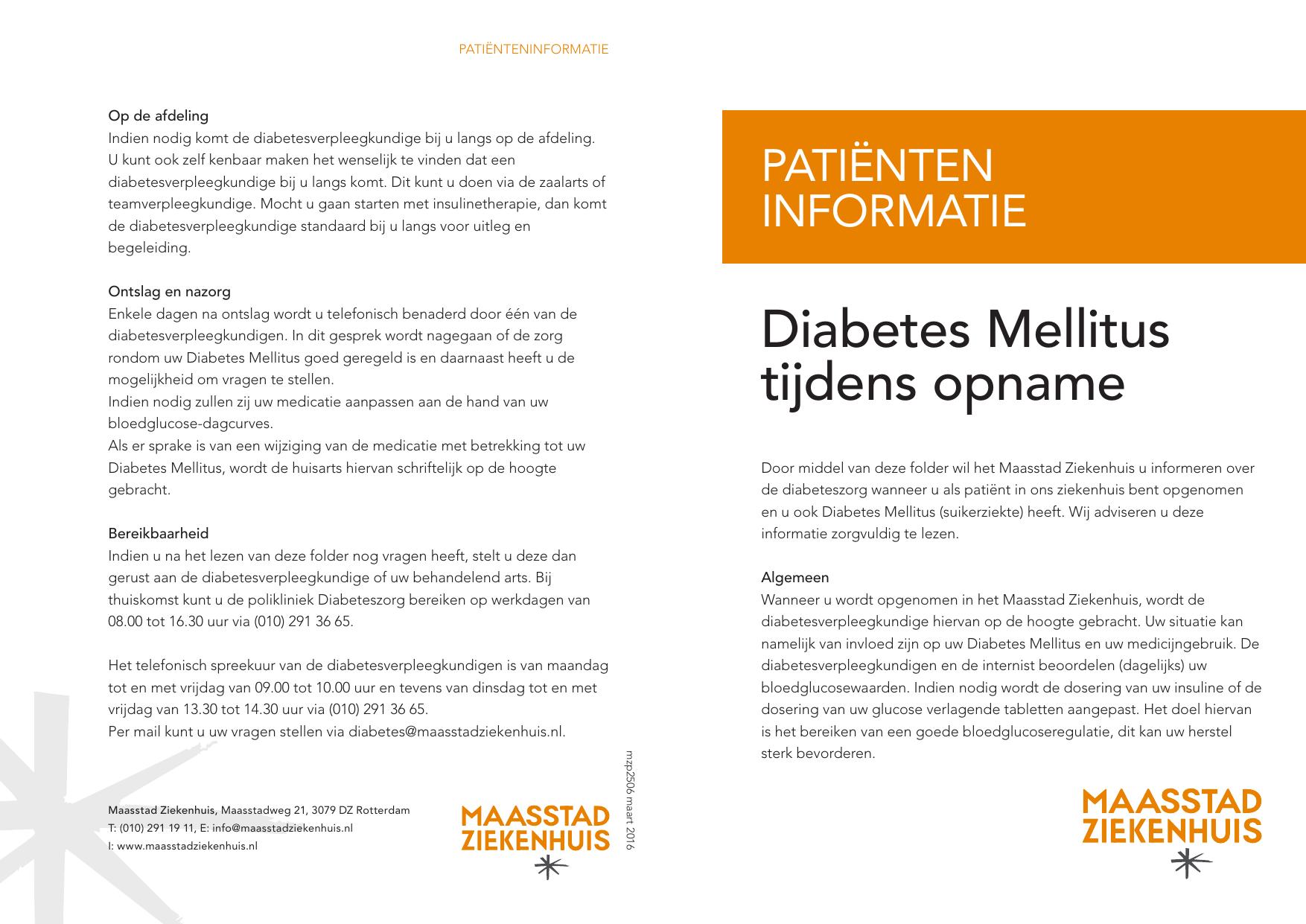 medicijngebruik bij diabetes mellitus