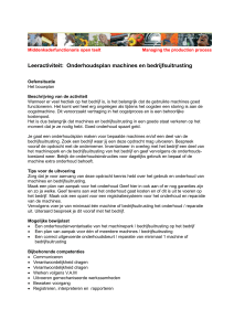 oefensituatie: onderhoud machines en