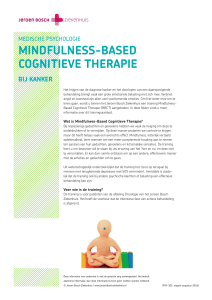Mindfulness-Based Cognitieve therapie