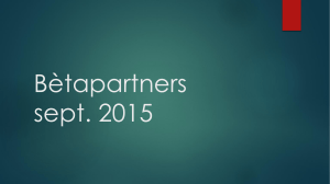Bètapartners sept. 2015