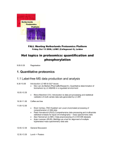 FALL Meeting Netherlands Proteomics Platform