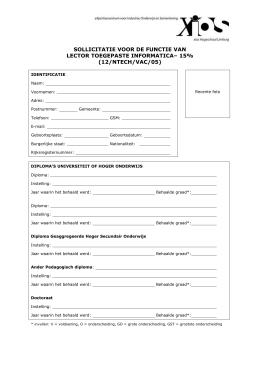 sollicitatie voor de functie van sollicitatie voor de functie van lector filosofie sollicitatie voor de functie van