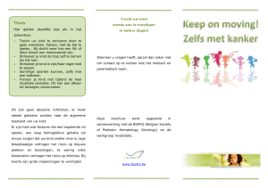 Keep on moving! Zelfs met kanker