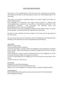 vacature seksuoloog
