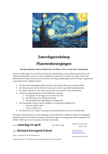 workshop planetenbewegingen 2016