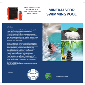 minerals for swimming pool - Magnesium elektrolyse voor zwembaden