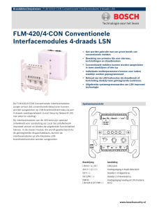 FLM-420/4-CON Conventionele Interfacemodules 4