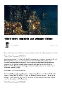 Video Vault: inspiratie van Stranger Things | Bright Ideas