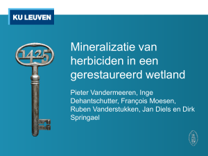 Long term mineralization potential of pesticides in a
