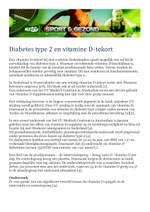 Printversie Diabetes type 2 en vitamine D-tekort