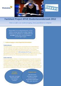 Factsheet Project #FIVE Studentenonderzoek 2012