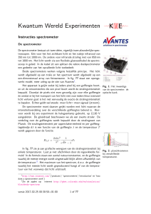 Instructies spectrometer - Kwantum Wereld Experimtenten